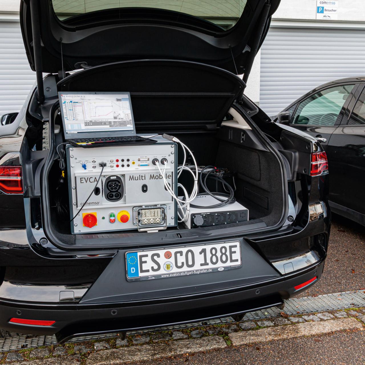 The comemso EVCA Multi Mobile - mobile measuring laboratory in the trunk.